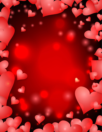 St. Valentines day holiday background for poster design. Vector illustration.