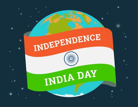 Poster for Indian independence day sale. Vector illustration. Illustration