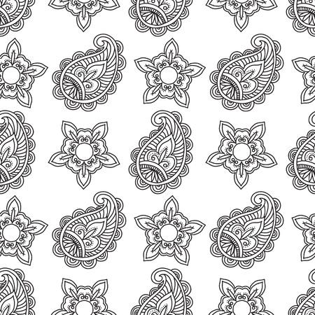 Diseño de patrón de estilo indio. Ilustración vectorial.