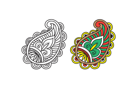 Indian style pattern design. Vector illustration.