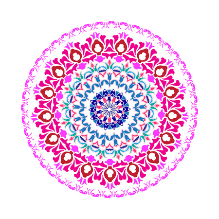 Mandala design with floral patterns. Vector illustration.
