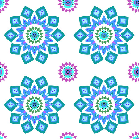 Geometric seamless pattern in oriental style. Vector illustration.