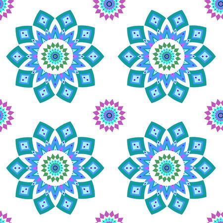 Geometric seamless pattern in oriental style. Vector illustration.