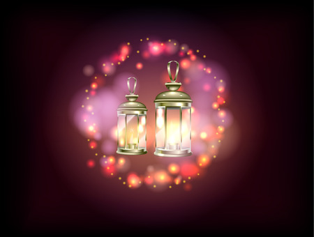 Decorate poster for religious Muslim holiday. Vector illustration. Illustration