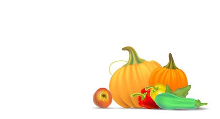 Autumn sale poster design. Vector illustration.