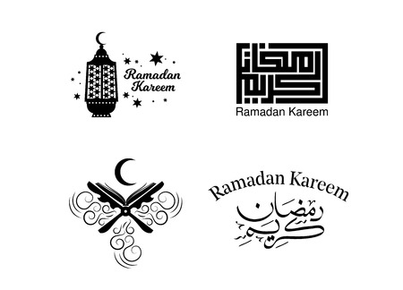 Muslim holiday Ramadan card and poster design. Vector illustration.  イラスト・ベクター素材