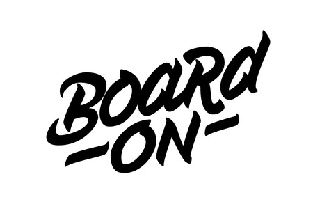 Snowboard recreation lettering poster design. Vector illustration.
