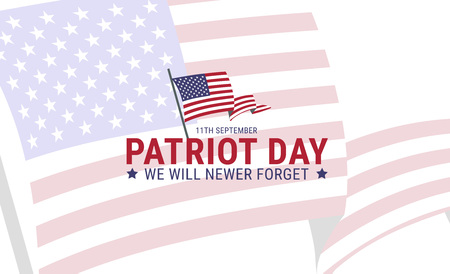 Poster design for Patriot memory day in America. Vector illustration.  イラスト・ベクター素材