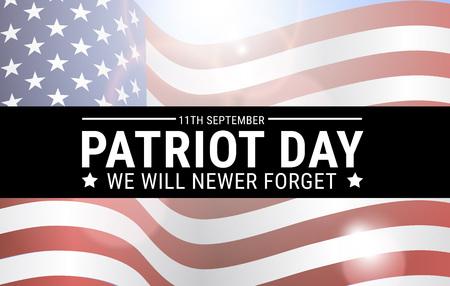 Poster design for Patriot memory day in America. Vector illustration. Illustration