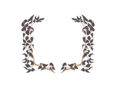 Floral frame design. Vector illustration.