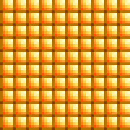 Abstract geometric background in yellow and ochra colors. Vector illustration. Stock Photo
