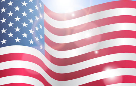 Poster design for Patriot memory day in America. Vector illustration. Stock Photo