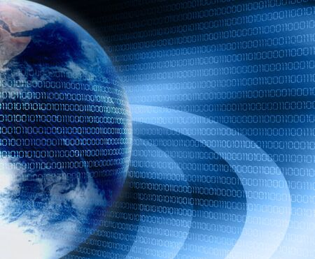 source code: earth and digital code