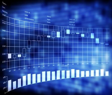 handel: Forex-Handel mit Japan Indikatoren Kerzen auf blauem Hintergrund