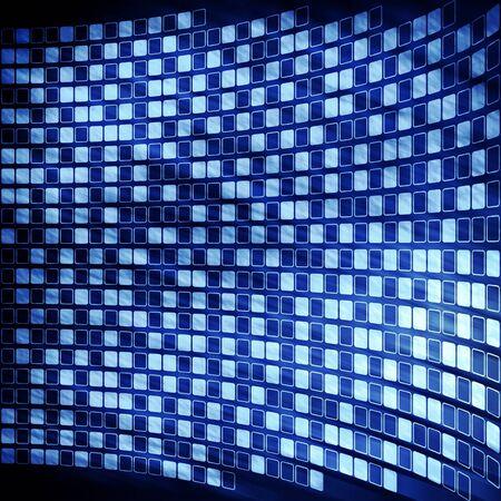 abstraktní kyberprostor digitální modré pozadí