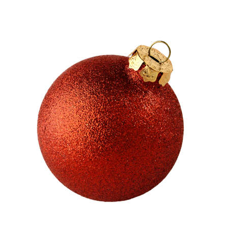 red christmas ball isolated on white background photo