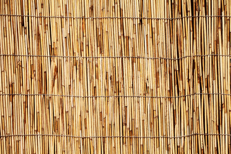 bamboe of riet stro abstracte achtergrond Stockfoto