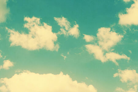 vintage clouds and sky background in sunny day photo