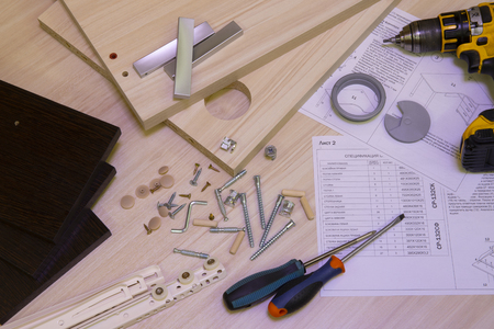 Furniture assembly made from laminated chipboard
