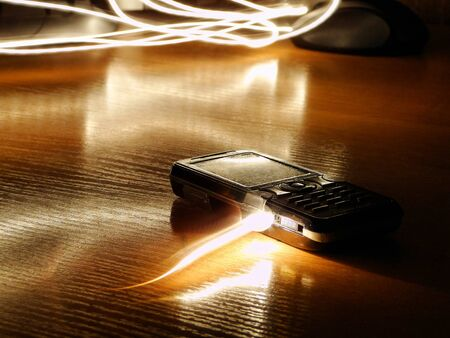 Light flies into a push-button telephone