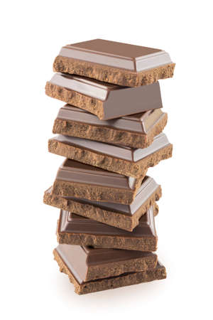 Tower of chocolate bars photo