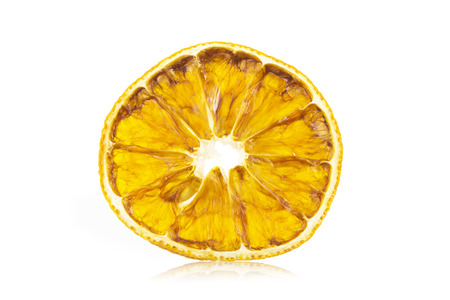 dried orange: Dried orange slice Stock Photo