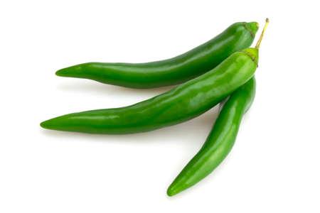 Three green chili photo