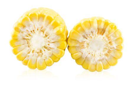 Slice of two ears of corns photo