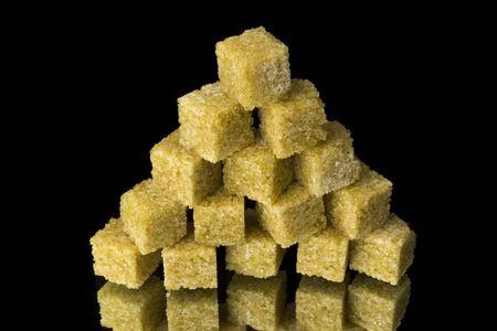 Pyramid from sugar cubes photo