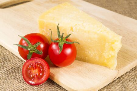 Parmesan cheese and tomatoes