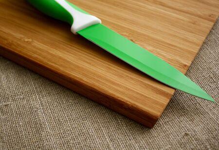 board: cutting board and knife