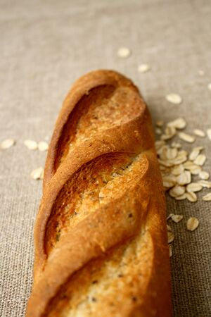 rolled oats: baguette rolled oats