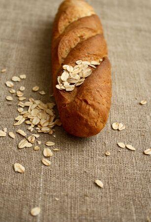 avena en hojuelas: baguette copos de avena