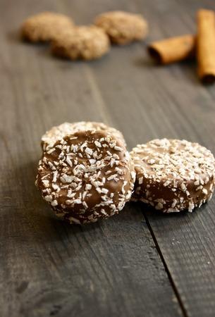 pretzel stick: Chocolate biscuits