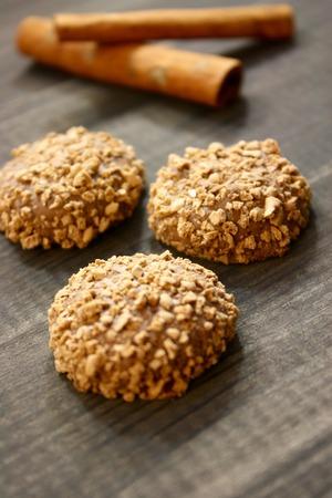 pretzel stick: cookie crumbs Chocolate biscuits