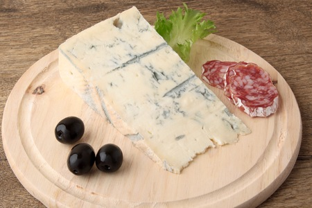 spicey: blue cheese salami