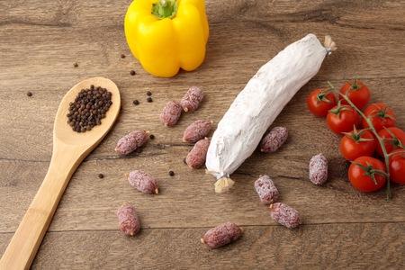 peper: Sausage, peper and salami