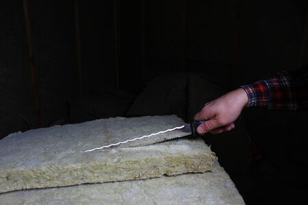 stone wool knife rock cut insulation rockwool isolation