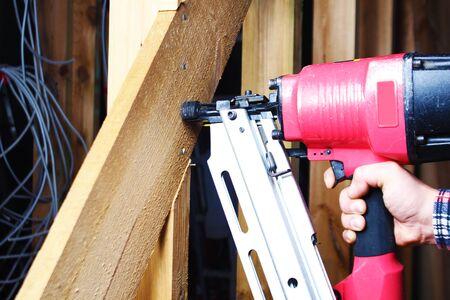 pneumatic nailing hand niler nails installation mount wooden