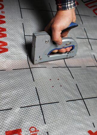 vapor barrier stapler mount insulation house tool holds