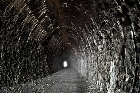 the end: Photo of deserted tunnel at Baikal railroad