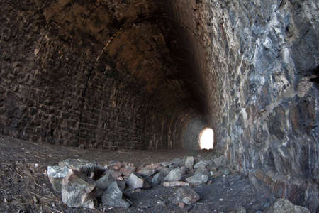 unkempt: Photo of deserted tunnel at Baykal railroad