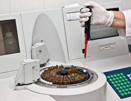indisposition: Photo of making tests on some laboratory device
