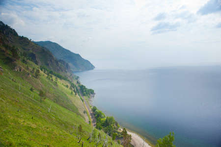 Lake Baikal and part of old railroad Stock Photo - 10060499