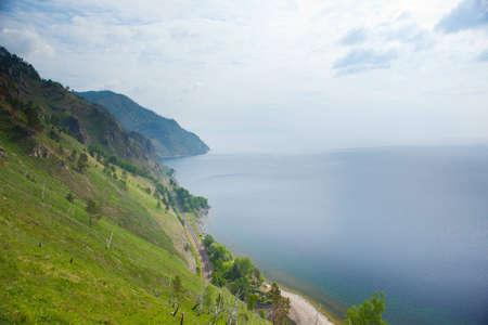 Lake Baikal and part of old railroad Stock Photo - 10060499