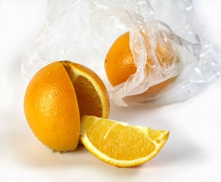 orange on a white background Stock Photo - 4118077