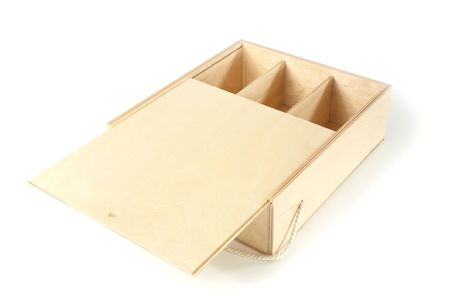 unpainted: unpainted a box with compartments on white background