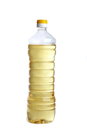 Bottle of vegetable oil isolated on a white background Stock Photo - 6424075