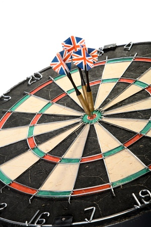 Three Darts Arrows Poked Right In The Center photo