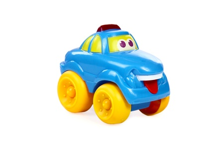 Children's toy the car isolated on a white background